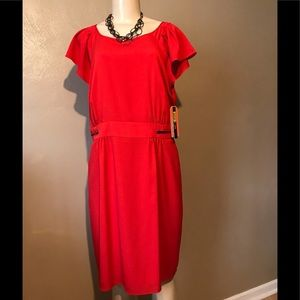 Gianni Bini red dress size 12, polyester & lining